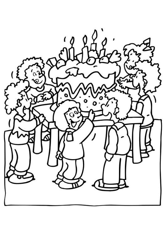Disegno Da Colorare Festa Di Compleanno Cat 6561