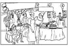 Disegno da colorare festa di compleanno