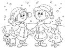 Disegno da colorare festeggiare il Natale