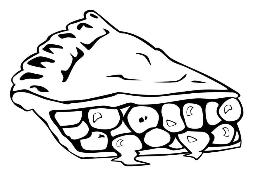 Disegno Da Colorare Fetta Di Torta Cat 10014