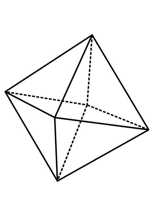Disegno da colorare figura geometrica - octaedro - Cat. 19237.