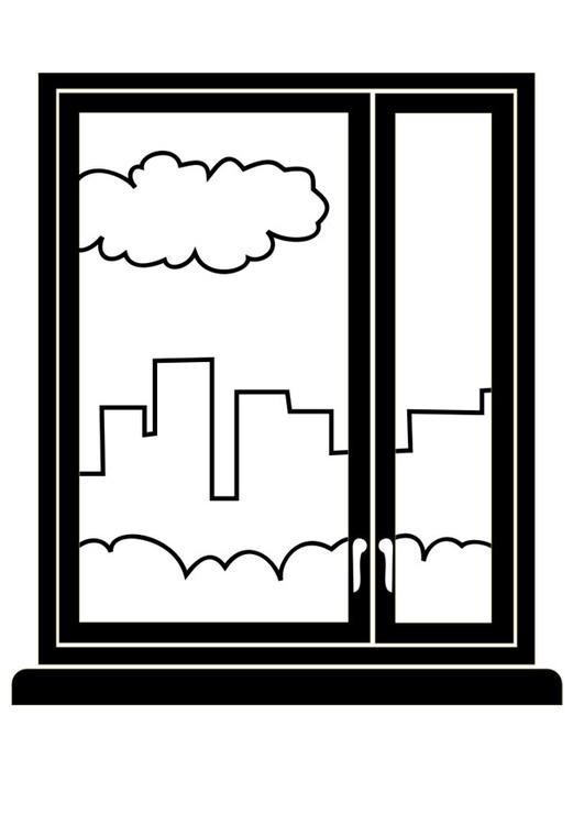 Disegno da colorare finestra cat 29447 for Disegno una finestra testo