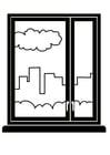Disegno da colorare finestra