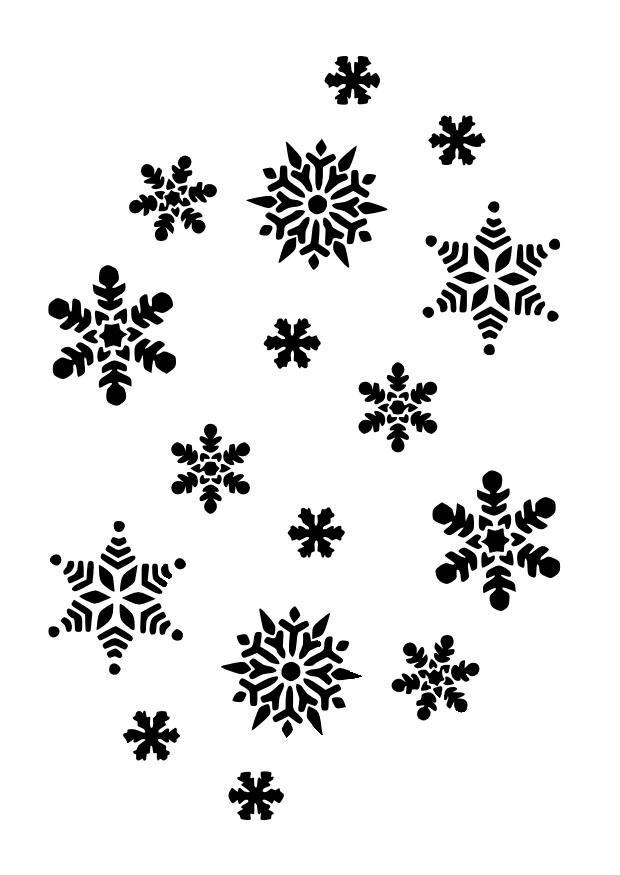 Disegno da colorare fiocchi di neve cat 10023 - Immagini da colorare la neve ...