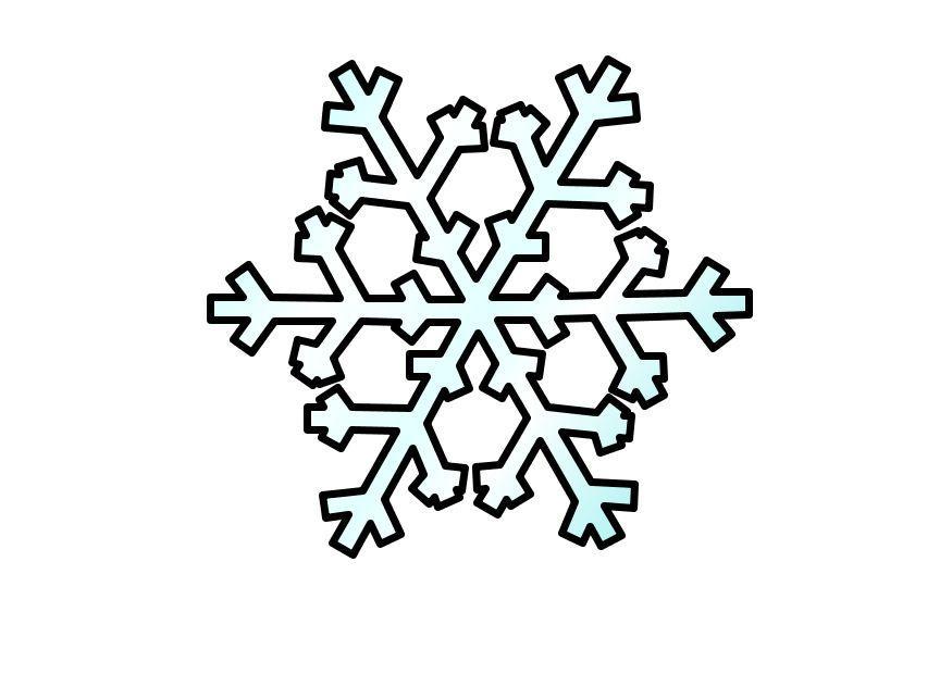 Disegno da colorare fiocco di neve cat 10356 - Fiocco di neve da colorare foglio da colorare ...