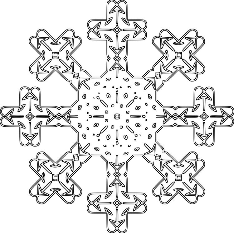 Disegno Da Colorare Fiocco Di Neve Cat 16121