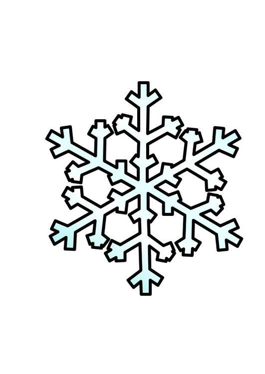 Disegno da colorare fiocco di neve cat 10356 for Fiocco di neve da ritagliare