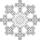 Disegno da colorare fiocco di neve