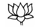 Disegno da colorare fior di loto