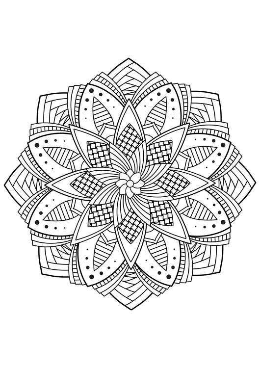 Disegno da colorare fiore di mandala disegni da colorare for Disegni inazuma eleven da stampare