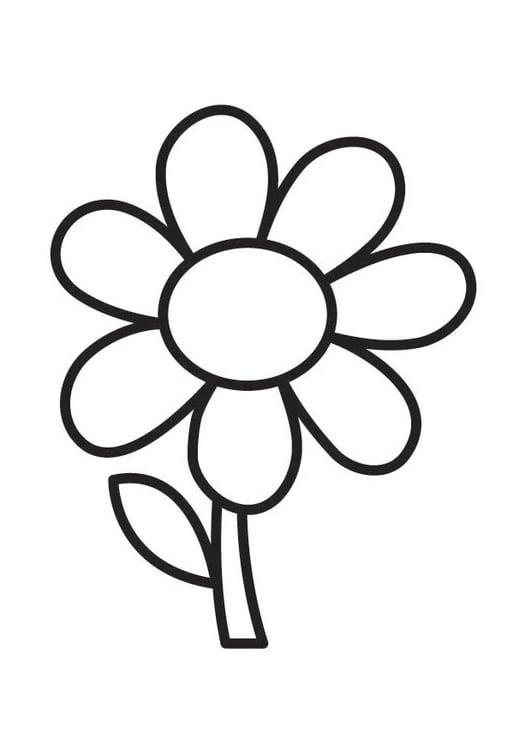 abbastanza Disegno da colorare fiore - Disegni Da Colorare E Stampare Gratis RG49