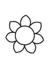 Disegno da colorare fiore