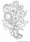 Disegno da colorare fiori