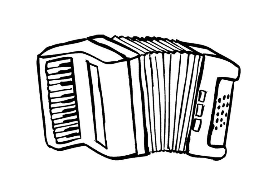 Disegno da colorare fisarmonica cat 9579 for Scarica clipart