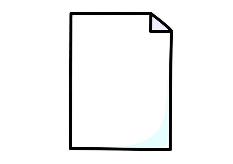 Disegno Da Colorare Foglio Di Carta Cat 10263 Images