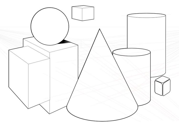 Disegno Da Colorare Forme Geometriche Cat 10040
