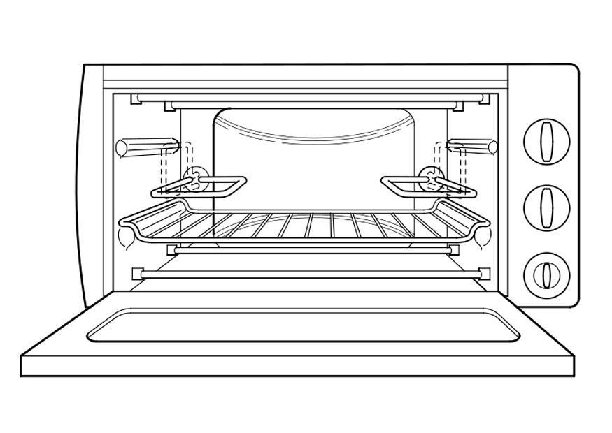 Disegno da colorare forno cat 18965 for Disegni da cucina enormi