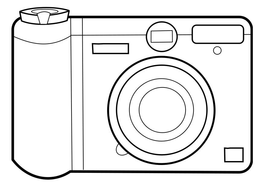 coloring pages to print camera - photo#12