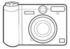 Disegno da colorare fotocamera