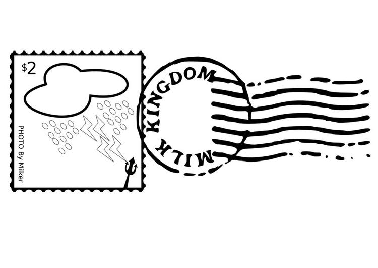 Disegno Da Colorare Francobollo E Timbro Cat 10046