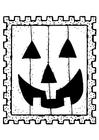 Disegno da colorare francobollo halloween