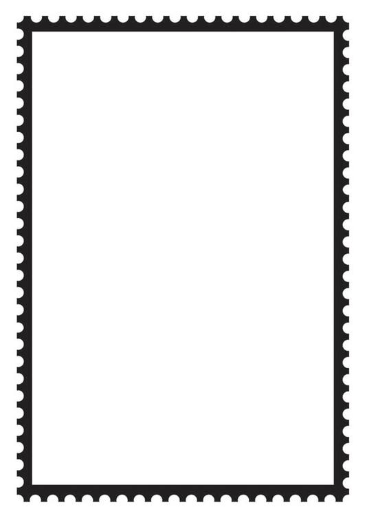 Disegno Da Colorare Francobollo Rettangolare Cat 18691