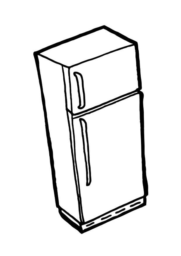 disegno da colorare frigo con congelatore