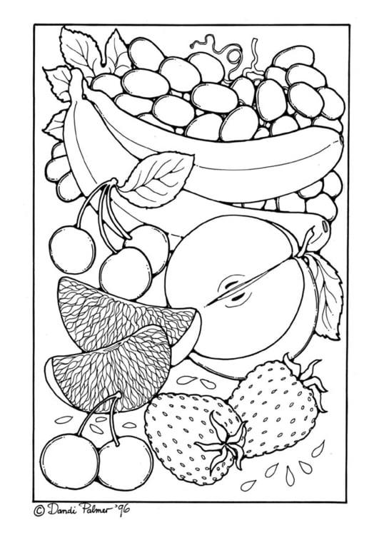 Disegno Da Colorare Frutta Disegni Da Colorare E Stampare