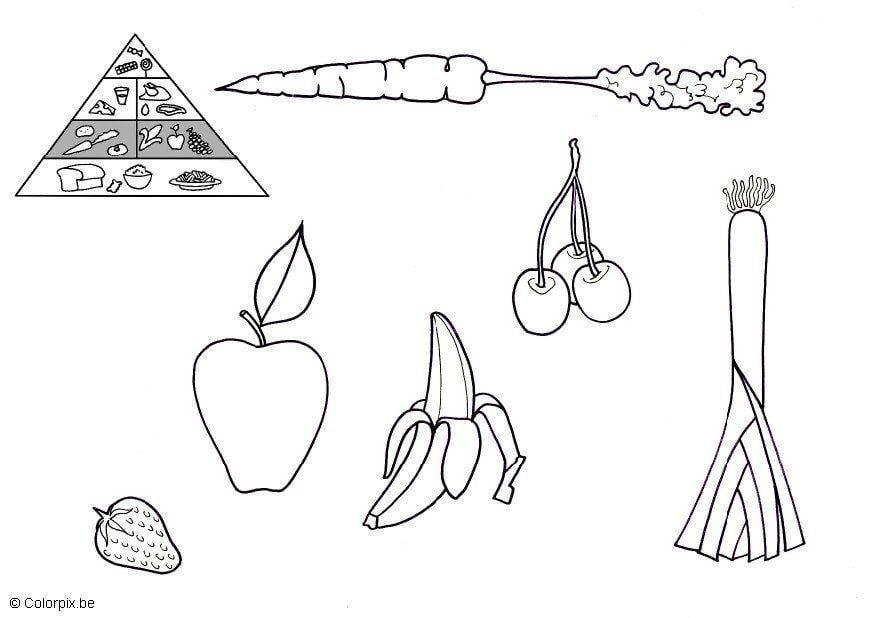 Disegno Da Colorare Frutta E Verdura Disegni Da Colorare E