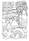 Disegno da colorare funghi