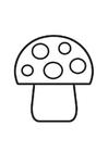 Disegno da colorare fungo a pois
