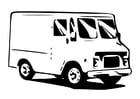 Disegno da colorare furgone