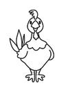 Disegno da colorare gallina