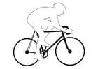 Disegno da colorare gara ciclistica