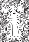 Disegno da colorare gattino