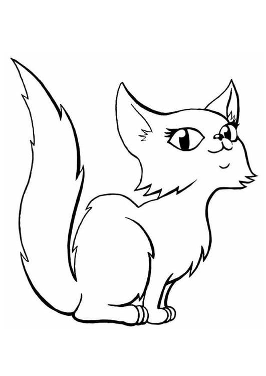 Disegno da colorare gatto cat 11583 - Gatto disegno modello di gatto ...