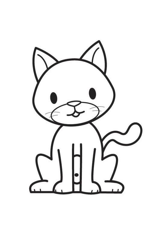 Disegno Da Colorare Gatto Cat 17601