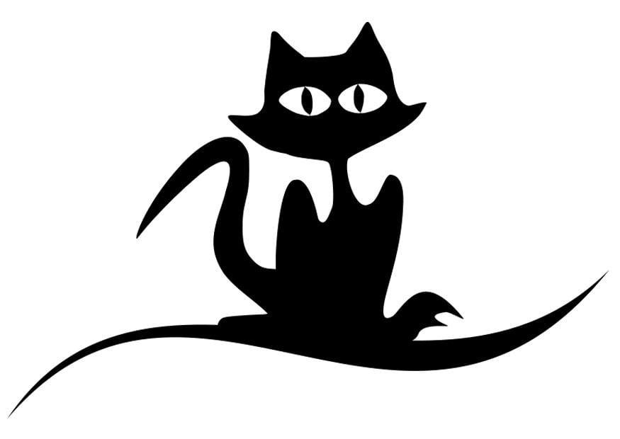 Disegno Da Colorare Gatto Nero Cat 19726 Images