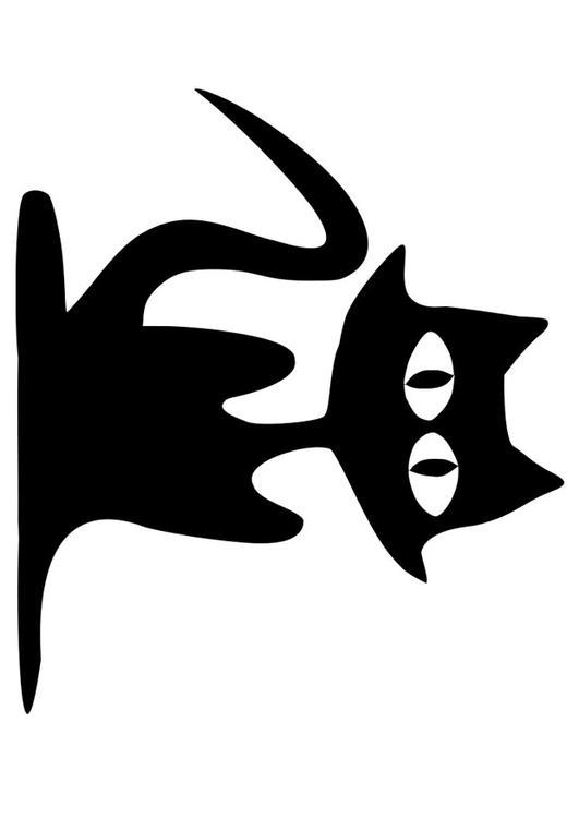 Disegno Da Colorare Gatto Nero Cat 19741