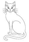 Disegno da colorare gatto