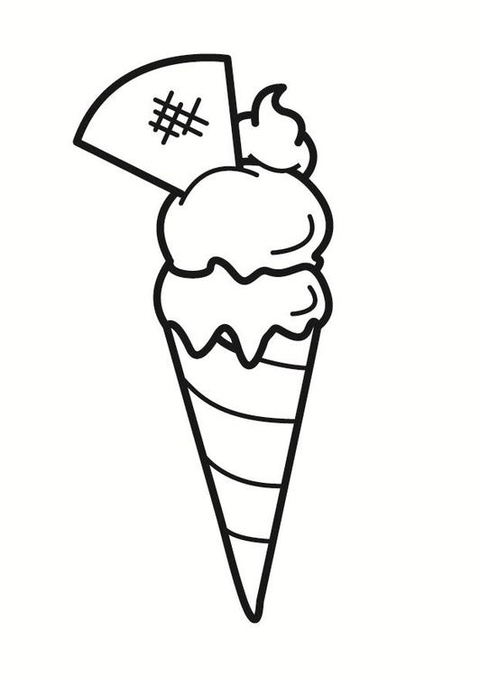 Disegno da colorare gelato cat 23325 - Disegno finestra da colorare ...