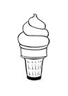 Disegno da colorare gelato