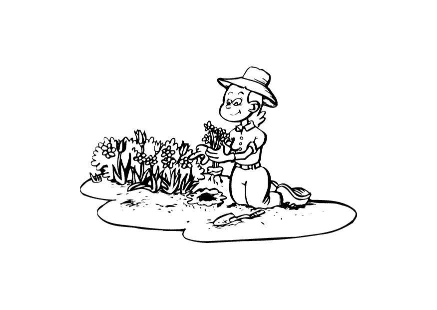 Disegno da colorare giardiniere cat 10402 for Immagini giardiniere