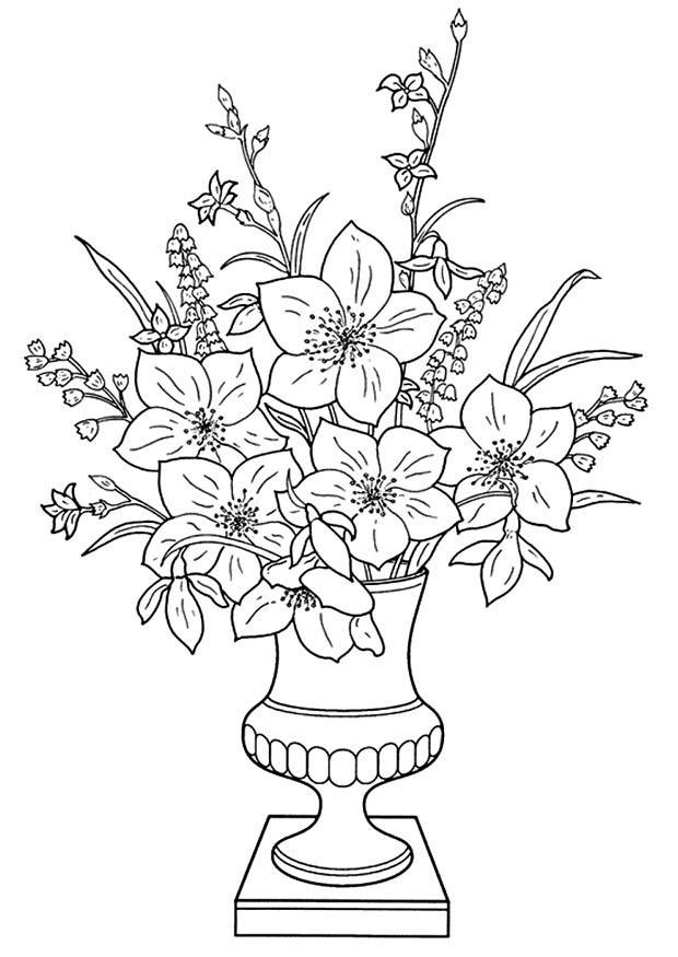 Disegno da colorare gigli in vaso cat 11340 for Disegno vaso da colorare
