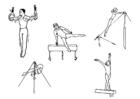 Disegno da colorare ginnastica