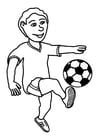 Disegno da colorare giocare a calcio