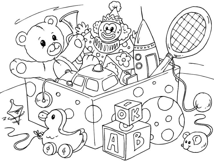 Disegno Da Colorare Giocattoli Cat 22821 Images