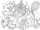 Disegno da colorare giocattoli