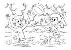 Disegno da colorare giochi d'acqua