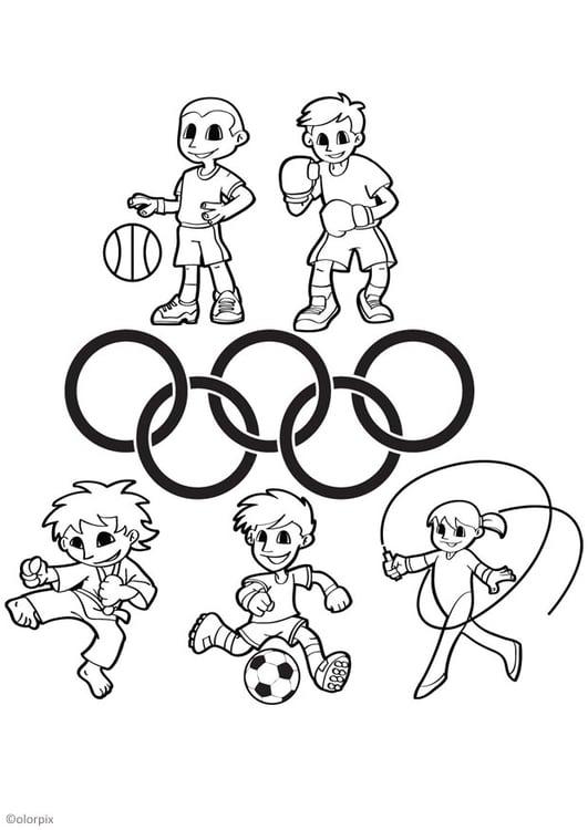 Disegno Da Colorare Giochi Olimpici Cat 26044 Images